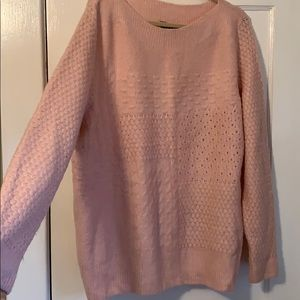 Lane Bryant Textured Cozy Pink Sweater 2X (18/20)